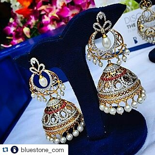 Repost bluestonecom with repostapp How pretty are these jhumkas fromhellip