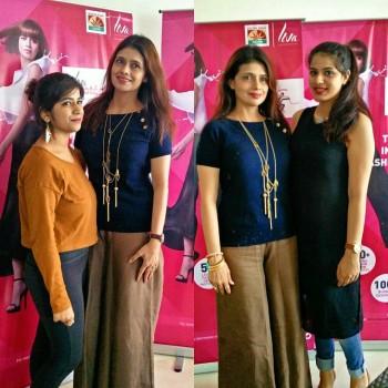 Designer shrutisancheti1 with the livafashionin Protg Mumbai finalists Diksha amphellip