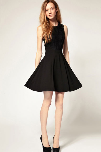lace-chiffon-black-dress