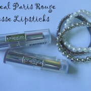 L'oreal Paris Rouge Caresse Lipsticks Mauve Cherie and Irrestible Espresso Review, Swatches
