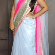OOTD: Gray Fuchsia Glitter Saree