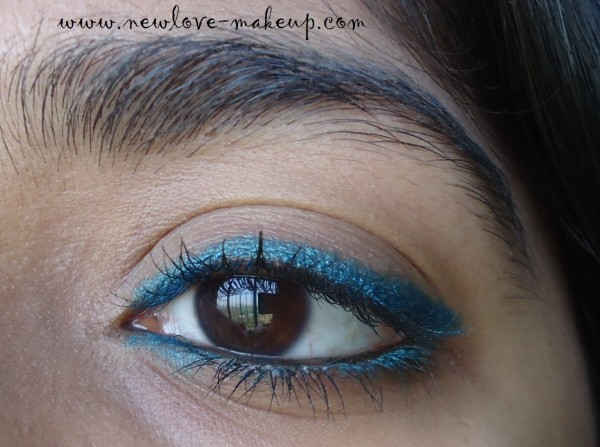 DSC09530 600x447 Maybelline Colossal Kohl Turquoise Review, Swatches, FOTD