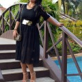 OOTD: Black on Black, Indian Fashion Blog, Outfit Posts