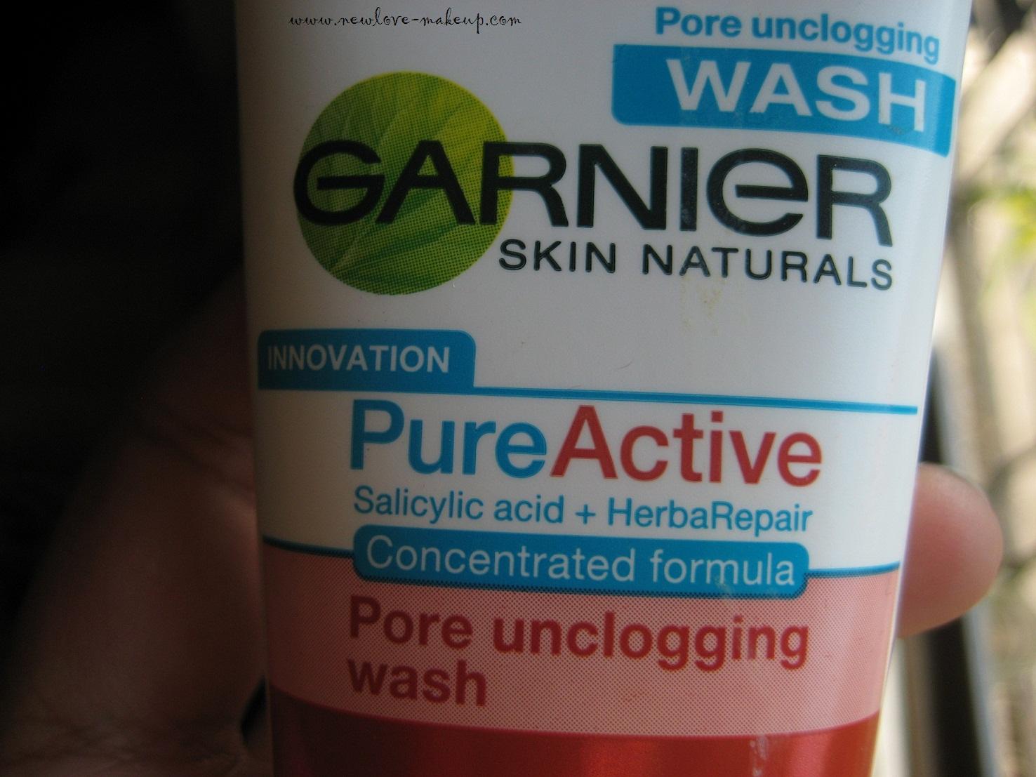 Garnier Pure Active Deep Pore Unclogging Face Wash Review New Love Acne Care Whitening Cream 20ml