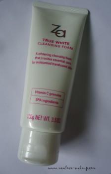 ZA True White Cleansing Foam, Toner, Night Cream Review