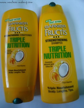 Garnier Fructis Triple Nutrition Shampoo, Conditioner Review