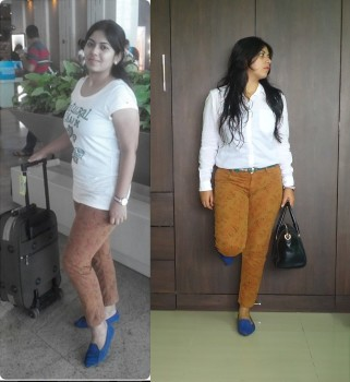 OOTD: Airport Travel/Friday Dressing with One Pants, Indian Fashion Blog, Indian Lifestyle blog