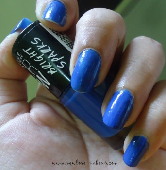 Maybelline ColorShow Bright Sparks Blazing Blue NOTD, New Launch Maybelline India
