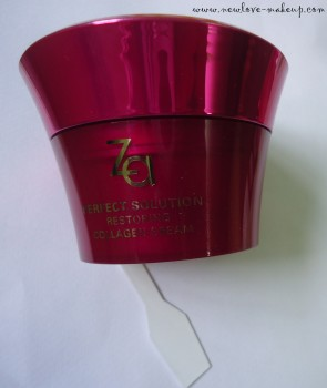 ZA Perfect Solution Restoring Collagen Cream Review, Indian makeup and beauty blog