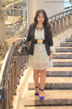 OOTD: Floral Dress and Black Blazer, Indian Fashion Blog