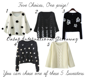 Oasap International Giveaway: Win a Sweater of your Choice, International Giveaway, Indian Fashion Blog