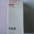 Kaya Insta - Brightening Micro Mask Review, Skincare, Indian Beauty Blog