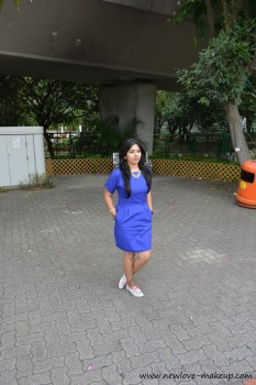OOTD: A Day at Ocean Park, Royal Blue Shift Dress, Outfit Post, Indian Fashion Blog