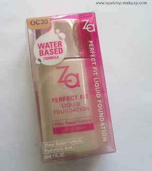 ZA Perfect Fit Liquid Foundation Review,Swatches,FOTD, Indian Beauty Blog