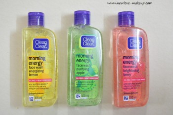 Clean & Clear Morning Energy Face Wash Reviews, Indian Beauty Blog