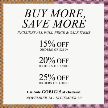 'Buy More,Save More' Sale at Shopbop, Luxury Shopping, Indian Fashion Blog