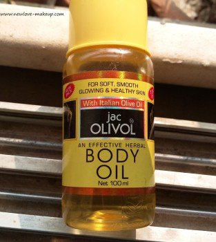 Jac Olivol Body oil with Italian Olive oil Review