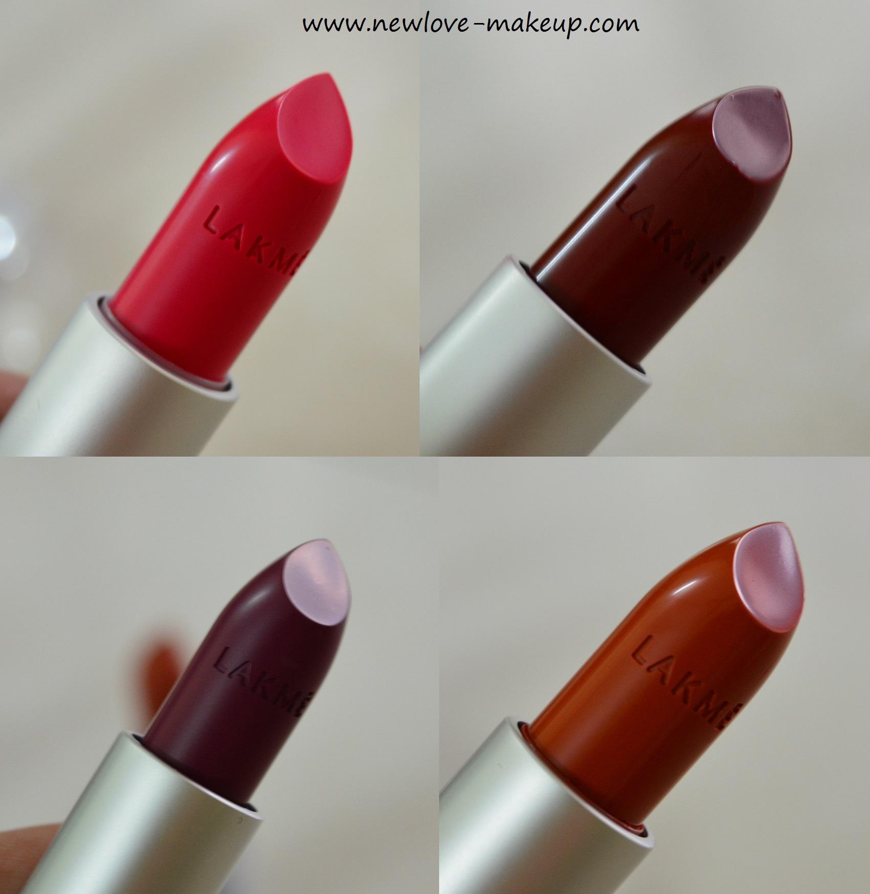 New Lakme Enrich Matte Lipsticks Review Swatches New Love Makeup