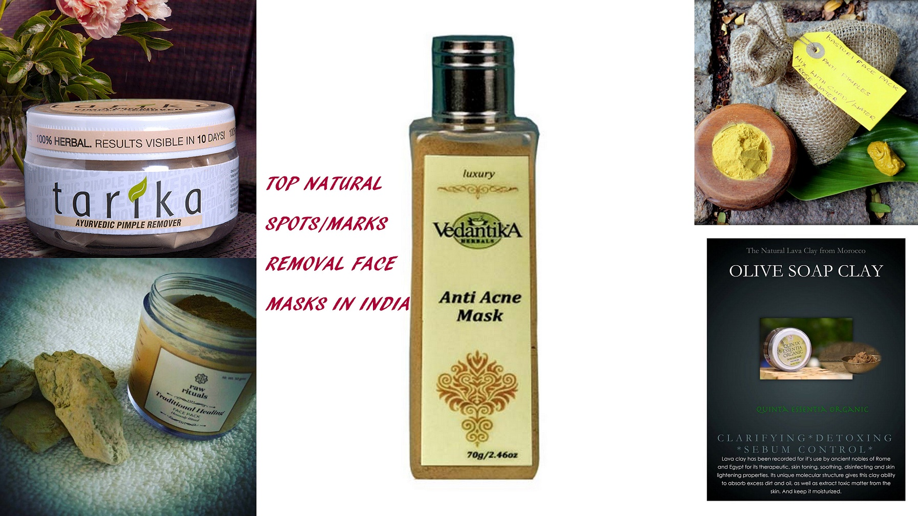 Best Herbal Natural Face Masks For Acne Acne Scars In India