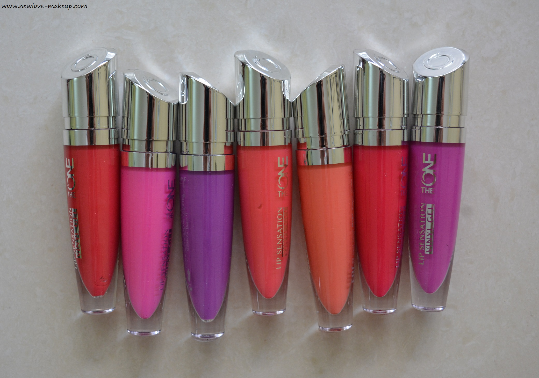 Oriflame The One Lip Sensation Vinyl Gel Review Swatches New Love Makeup