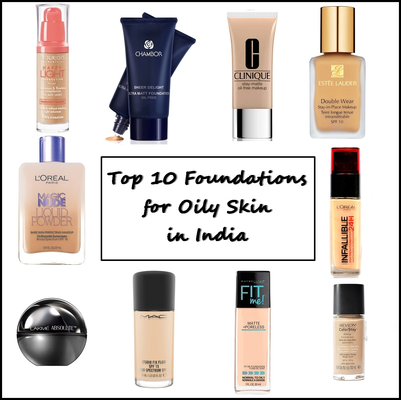 Top 10 Foundations For Oily Skin In India S Online Indian Makeup