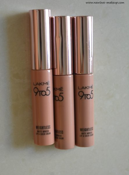 Long Lasting Blush: Lakme 9 To 5 Weightless Matte Mousse Lip & Cheek Color